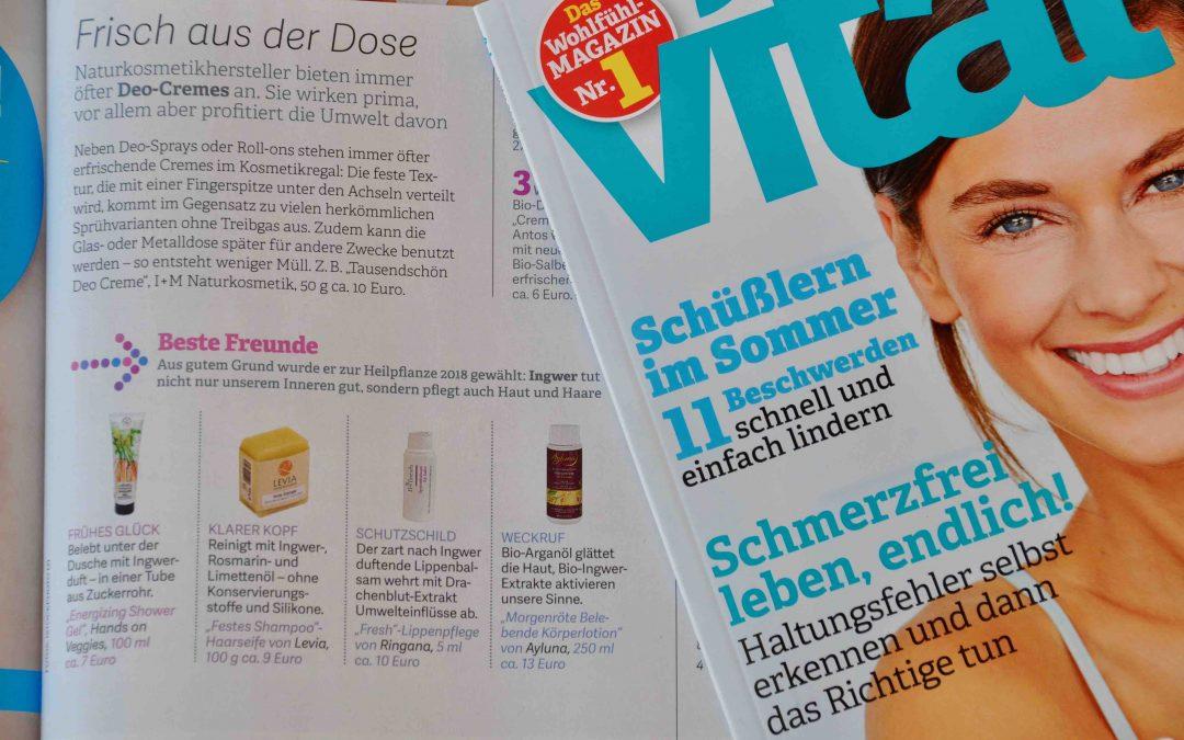 """""""Für Sie"""", """"Vital"""" und andere Medien berichten über LEVIA-Produkte"""